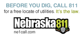 Call 811 for free utility location services. It's free and it's the law.